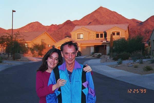 Doria Lavagnino and her dad in Nevada