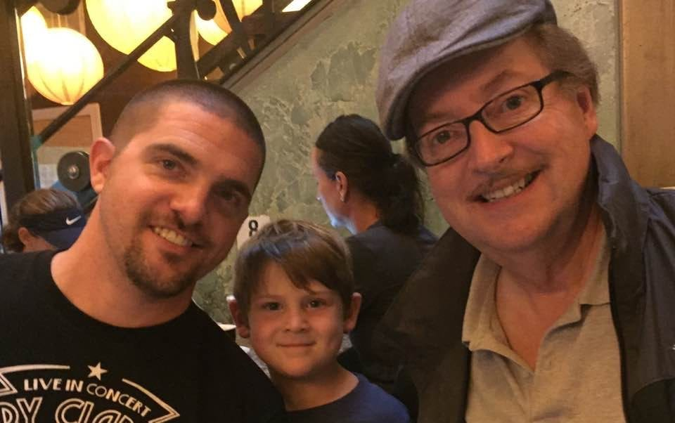 Nick Bradfield with his dad and son | money lessons my father taught me
