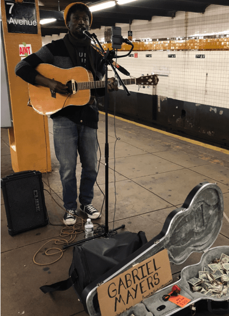 NYC Subway Performers: Gabriel Mayers, photo by Doria Lavagnino