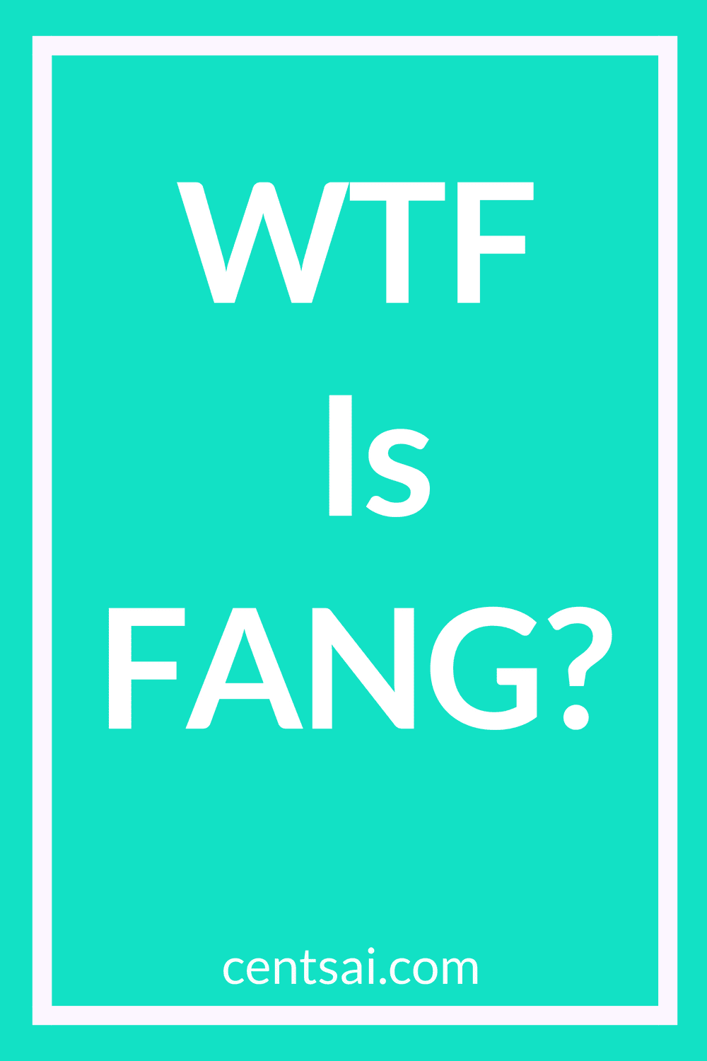 WTF Is FANG? What is FANG? No, it's not a club for vampires. But the investment opportunity excites many tech geeks. Join the club and learn all about it. #investment